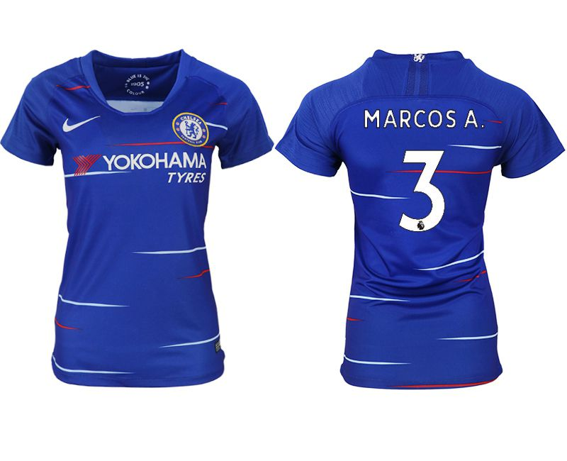 Women 2018-2019 club Chelsea aaa version home 3 blue soccer jerseys