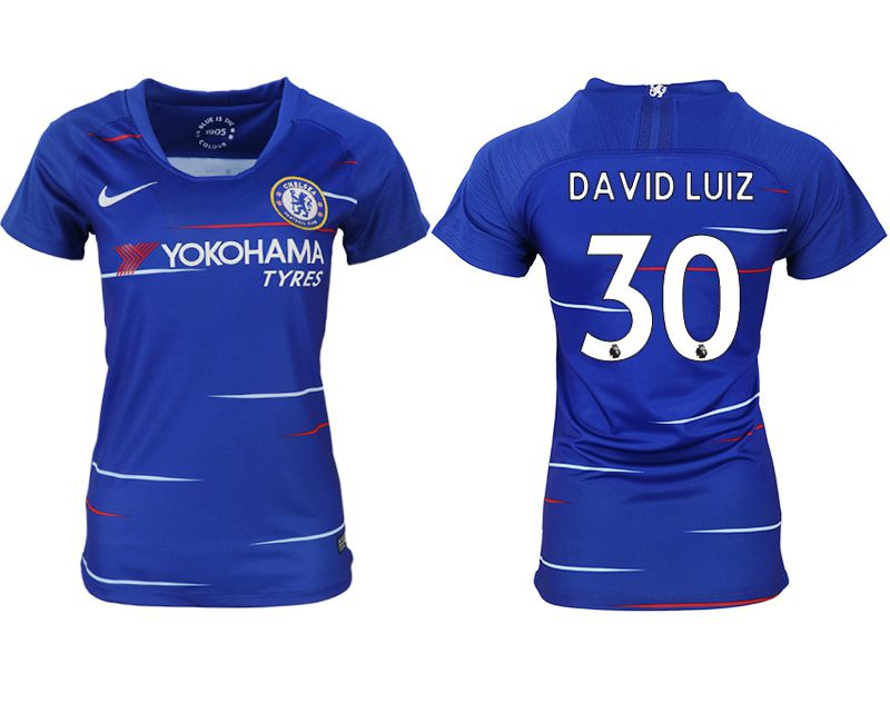 Women 2018-2019 club Chelsea aaa version home 30 blue soccer jerseys