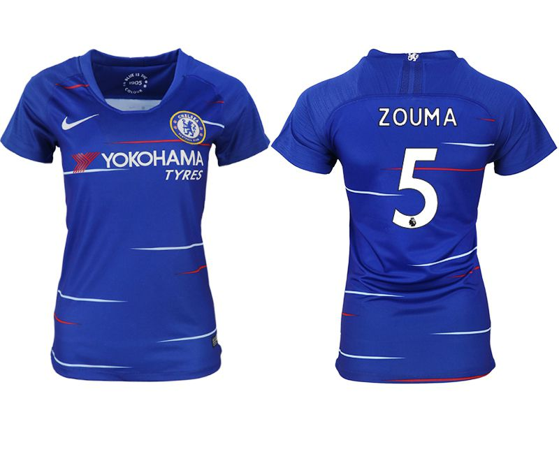 Women 2018-2019 club Chelsea aaa version home 5 blue soccer jerseys