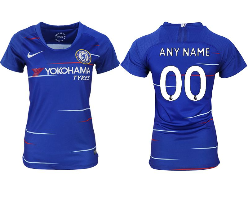 Women 2018-2019 club Chelsea aaa version home customized blue soccer jerseys