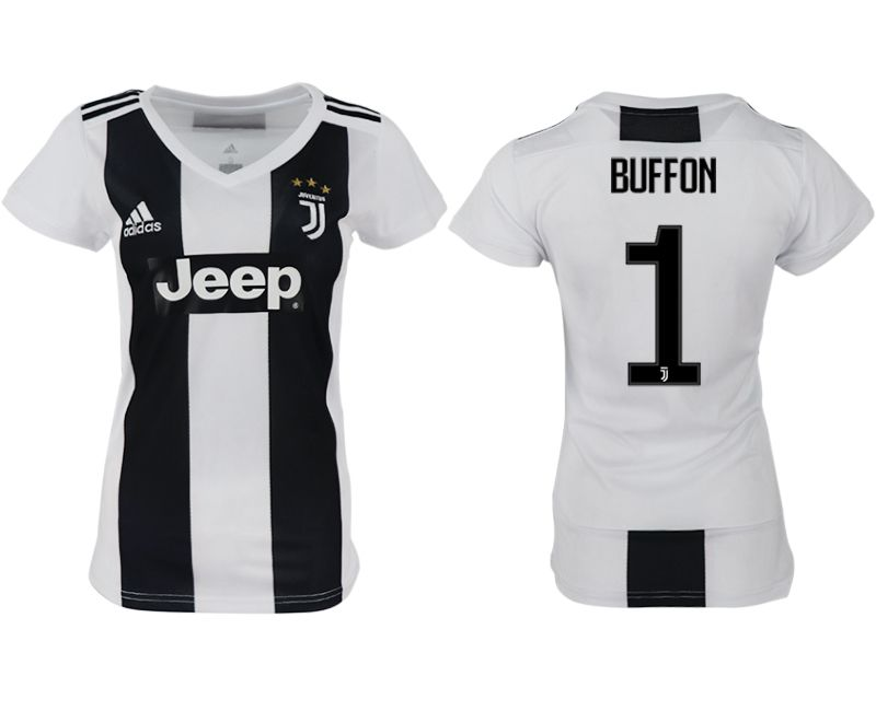 Women 2018-2019 club Juventus aaa version home 1 white soccer jersey