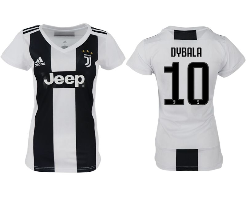 Women 2018-2019 club Juventus aaa version home 10 white soccer jersey