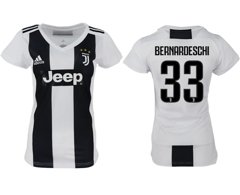 Women 2018-2019 club Juventus aaa version home 33 white soccer jersey
