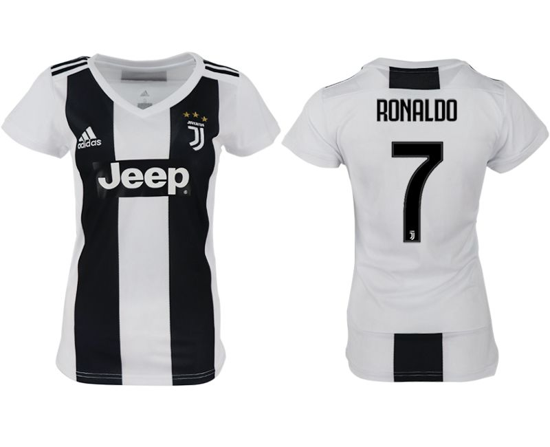 Women 2018-2019 club Juventus aaa version home 7 white soccer jersey