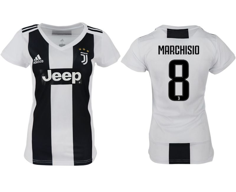 Women 2018-2019 club Juventus aaa version home 8 white soccer jersey