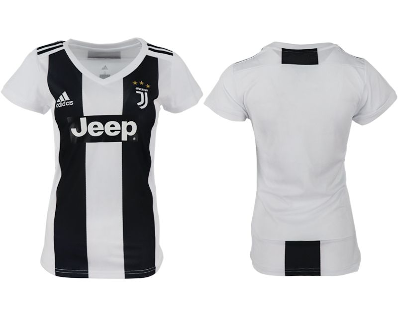 Women 2018-2019 club Juventus aaa version home blank white soccer jersey