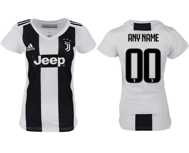 Women 2018-2019 club Juventus aaa version home customized white soccer jersey
