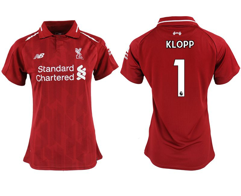 Women 2018-2019 club Liverpool aaa version home 1 red soccer jersey