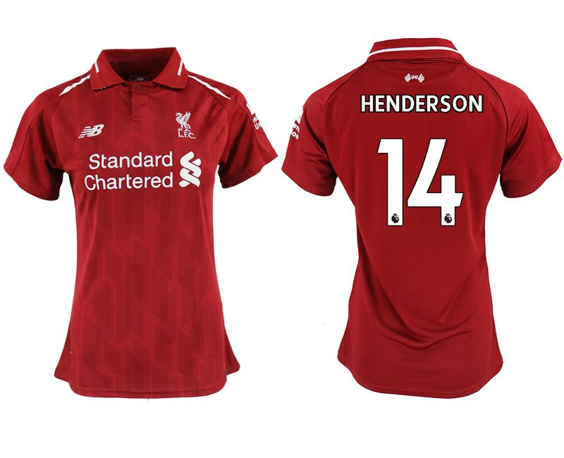 Women 2018-2019 club Liverpool aaa version home 14 red soccer jersey