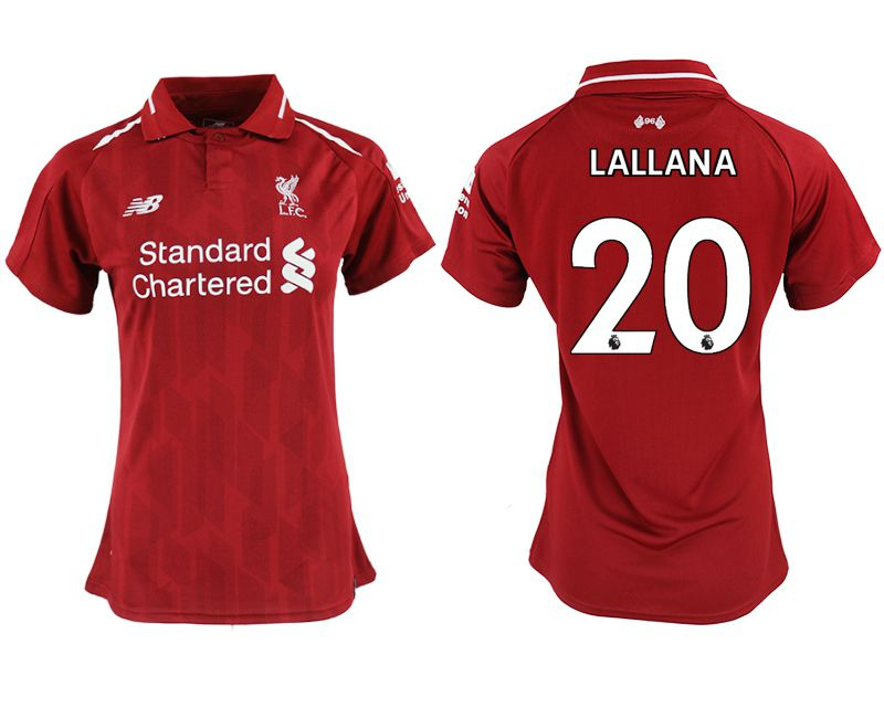 Women 2018-2019 club Liverpool aaa version home 20 red soccer jersey
