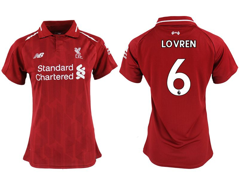 Women 2018-2019 club Liverpool aaa version home 6 red soccer jersey