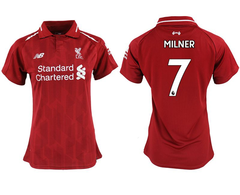 Women 2018-2019 club Liverpool aaa version home 7 red soccer jersey