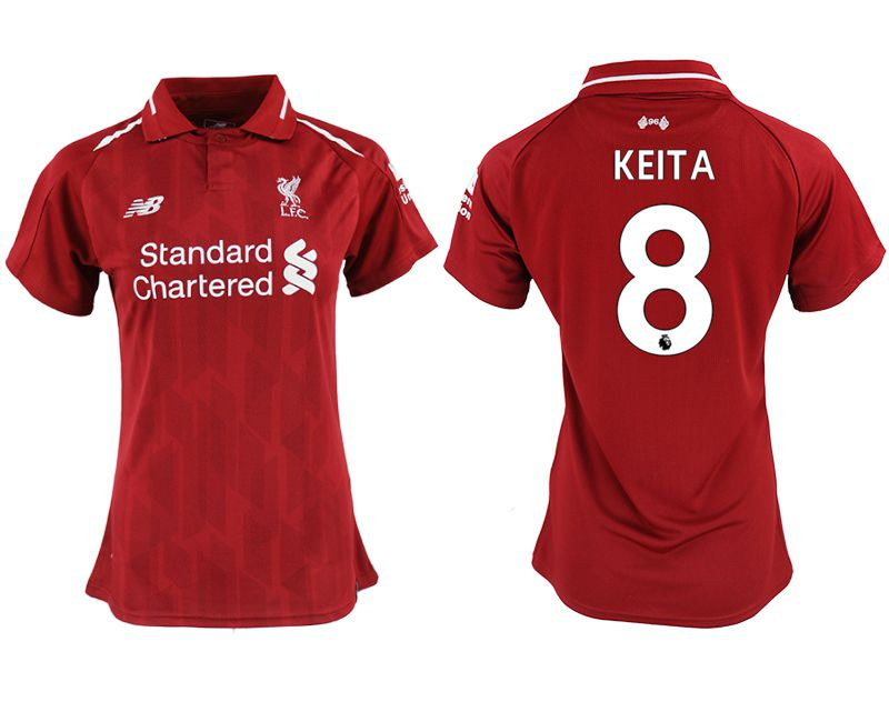 Women 2018-2019 club Liverpool aaa version home 8 red soccer jersey