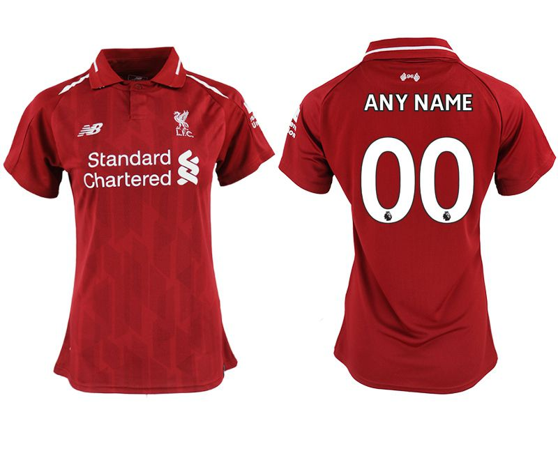 Women 2018-2019 club Liverpool aaa version home customized red soccer jersey