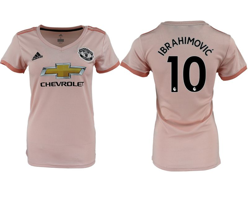 Women 2018-2019 club Manchester United aaa version away 10 pink soccer jersey