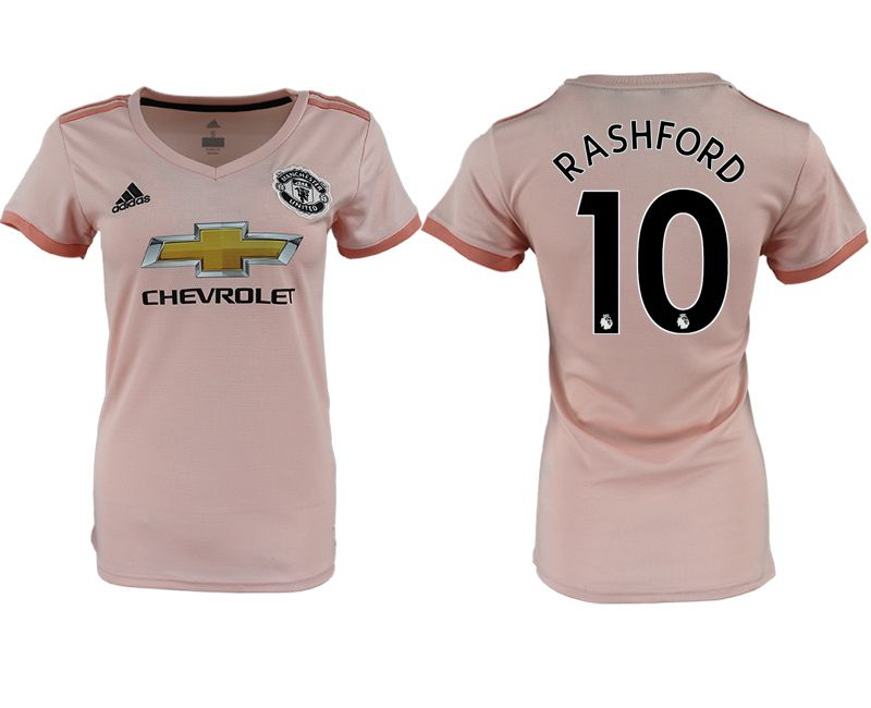 Women 2018-2019 club Manchester United aaa version away 10 pink soccer jersey1