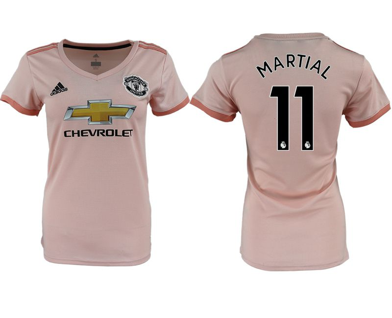 Women 2018-2019 club Manchester United aaa version away 11 pink soccer jersey