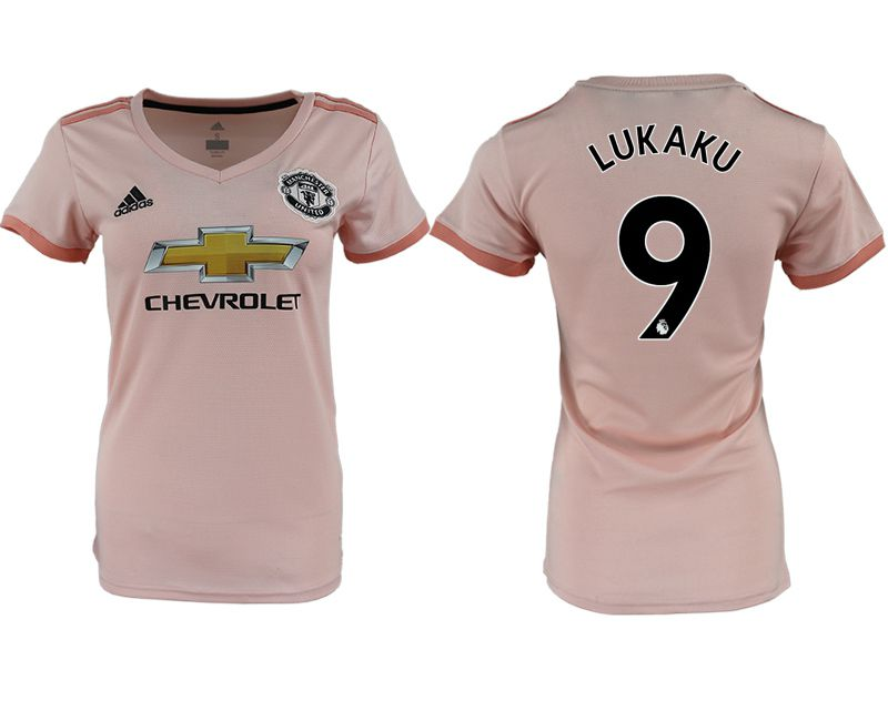 Women 2018-2019 club Manchester United aaa version away 9 pink soccer jersey