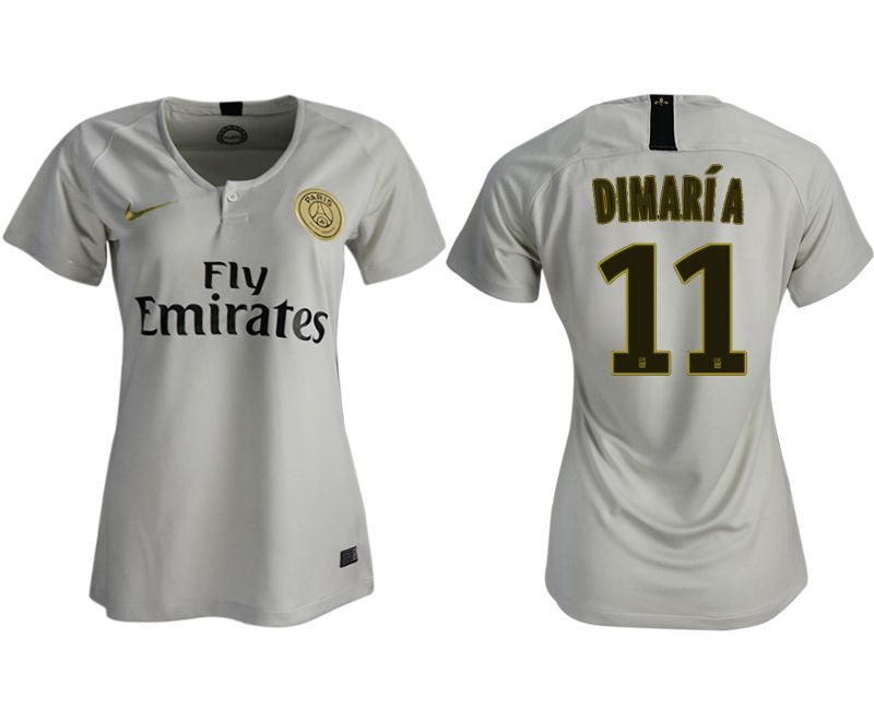 Women 2018-2019 club Paris St German aaa version away 11 white soccer jersey