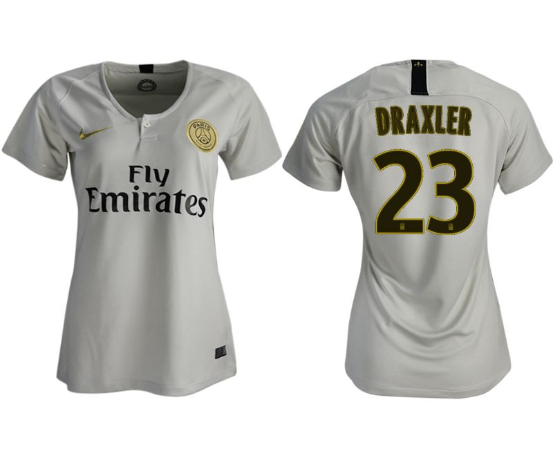 Women 2018-2019 club Paris St German aaa version away 23 white soccer jersey