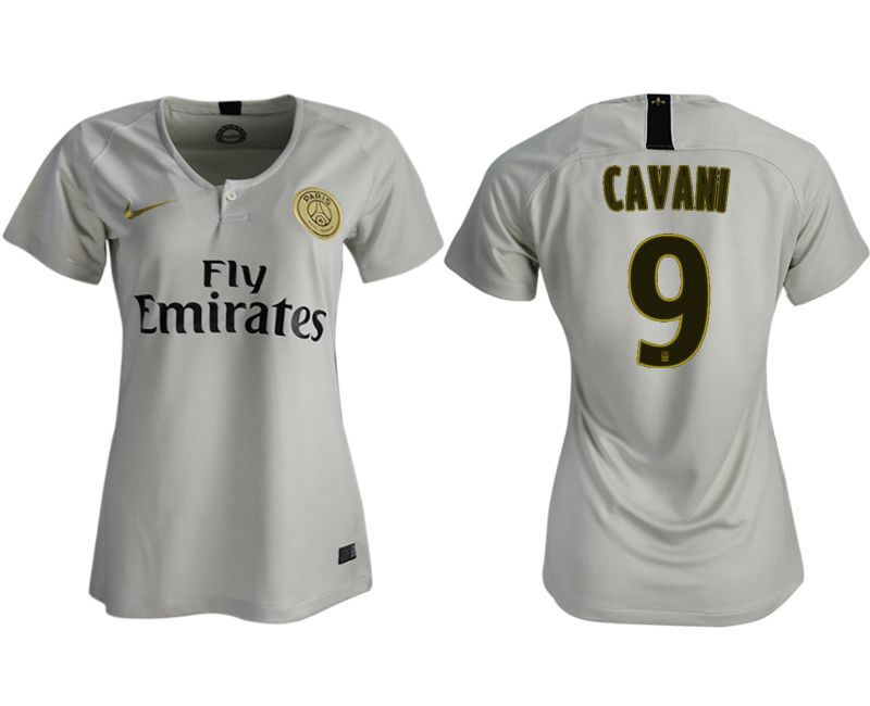 Women 2018-2019 club Paris St German aaa version away 9 white soccer jersey