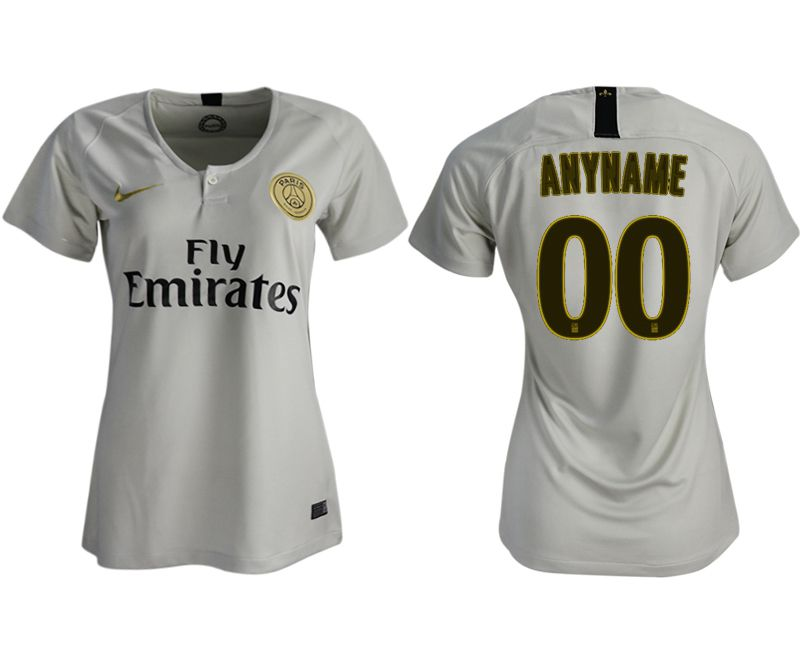 Women 2018-2019 club Paris St German aaa version away customized white soccer jersey