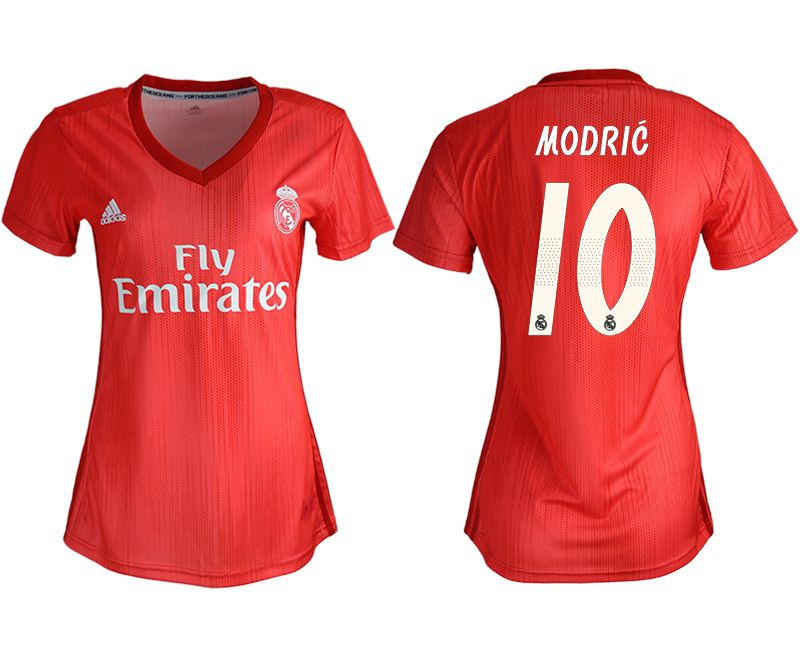 Women 2018-2019 club Real Madrid Second aaa version away 10 red soccer jersey