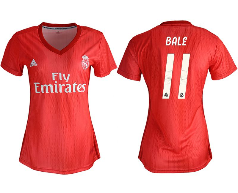Women 2018-2019 club Real Madrid Second aaa version away 11 red soccer jersey