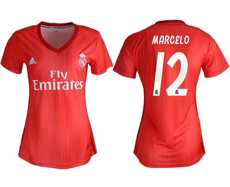 Women 2018-2019 club Real Madrid Second aaa version away 12 red soccer jersey