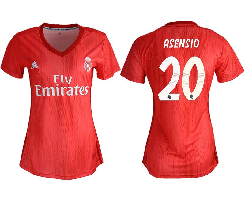 Women 2018-2019 club Real Madrid Second aaa version away 20 red soccer jersey