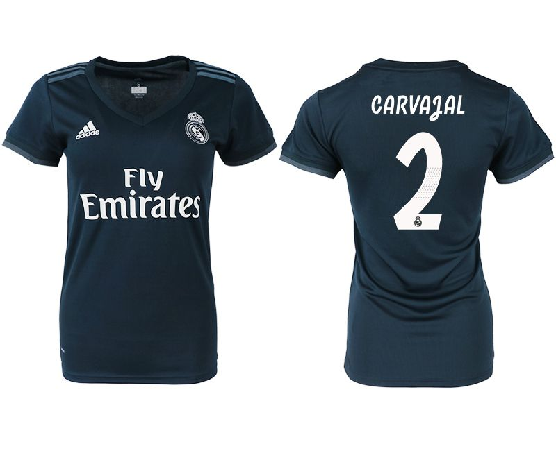 Women 2018-2019 club Real Madrid aaa version away 2 blue soccer jersey
