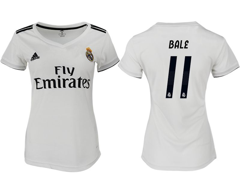 Women 2018-2019 club Real Madrid aaa version home 11 white soccer jersey
