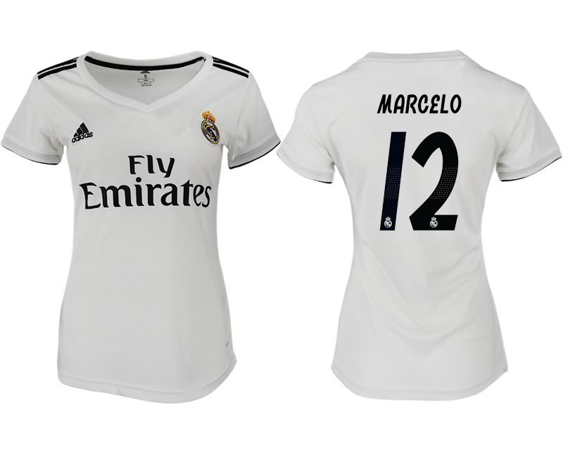 Women 2018-2019 club Real Madrid aaa version home 12 white soccer jersey