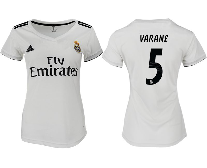 Women 2018-2019 club Real Madrid aaa version home 5 white soccer jersey