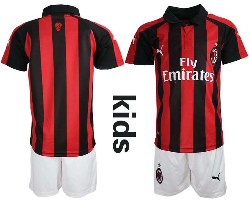 Youth 2018-2019 club AC milan home red soccer jerseys