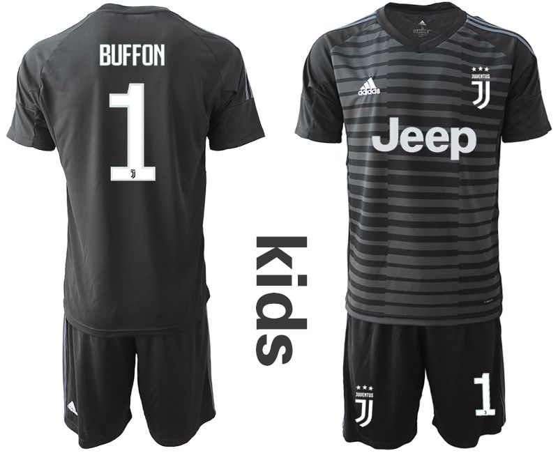 Youth 2018-2019 club Juventus goalkeeper 1 black Soccer Jerseys