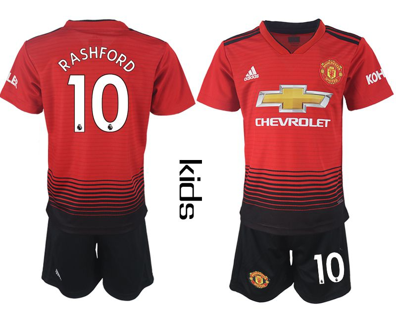 Youth 2018-2019 club Manchester United home 10 red soccer jersey