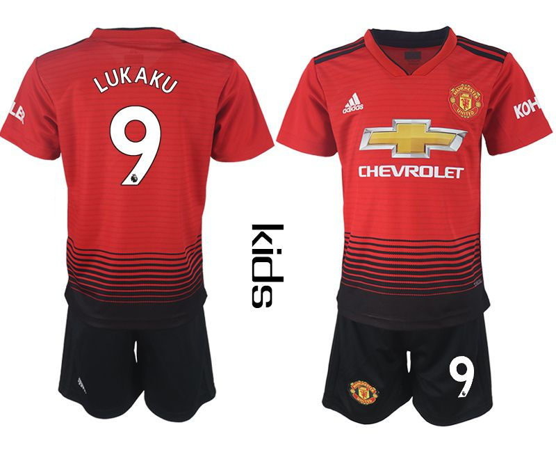 Youth 2018-2019 club Manchester United home 9 red soccer jersey