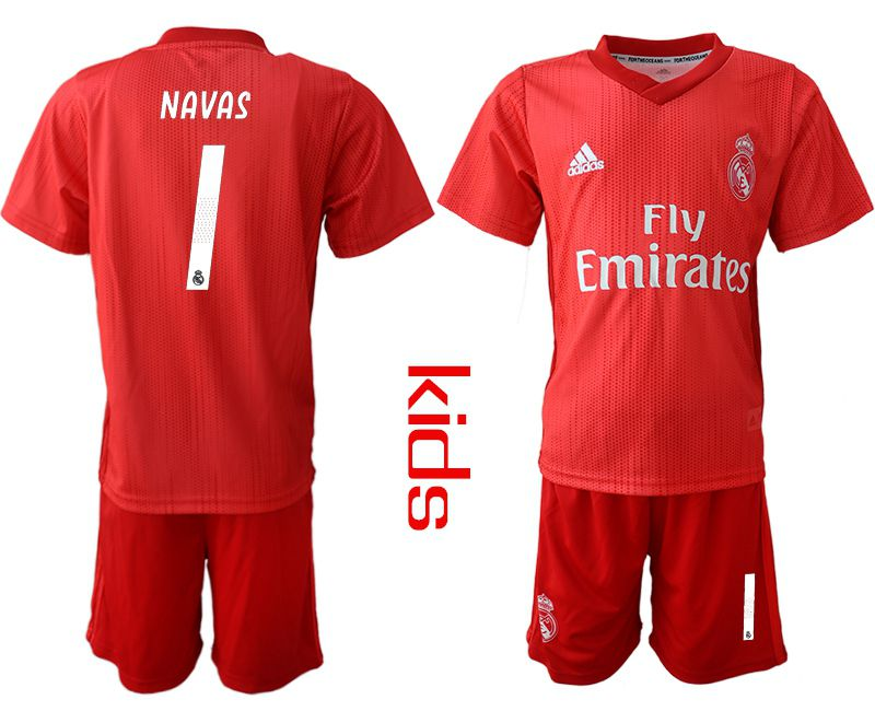 Youth 2018-2019 club Real Madrid Second away 1 red soccer jersey
