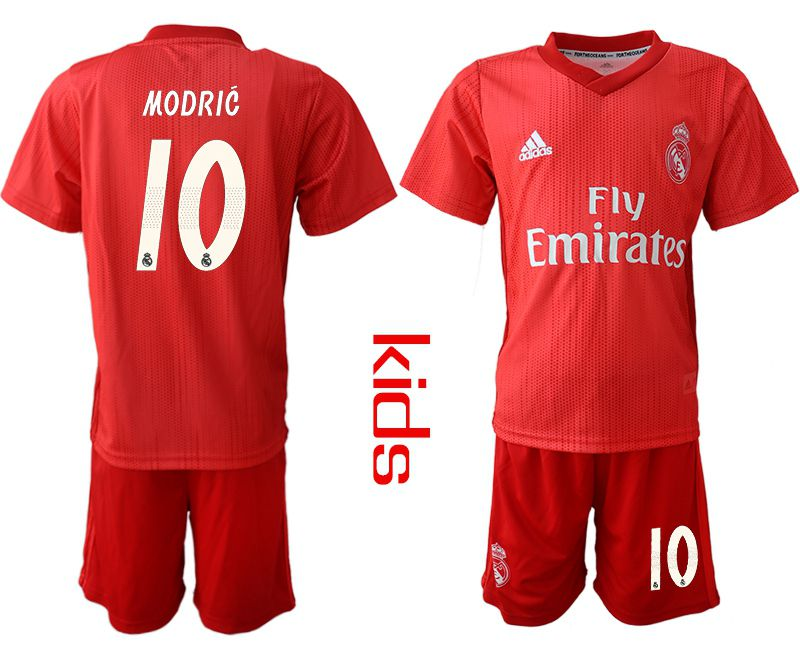Youth 2018-2019 club Real Madrid Second away 10 red soccer jersey