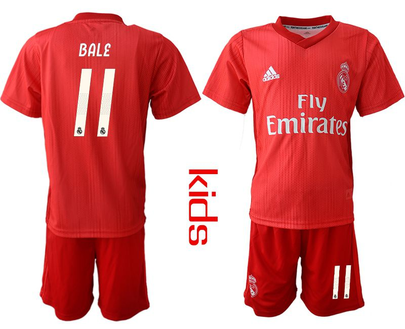 Youth 2018-2019 club Real Madrid Second away 11 red soccer jersey