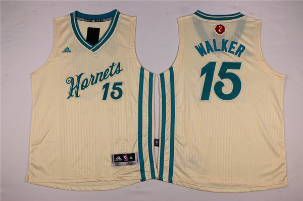 Youth Charlotte Hornets Adidas 15 Walker white NBA Jersey