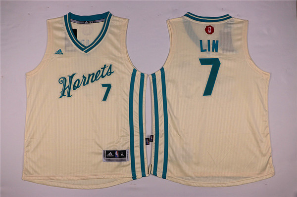 Youth Charlotte Hornets Adidas 7 Lin white NBA Jersey