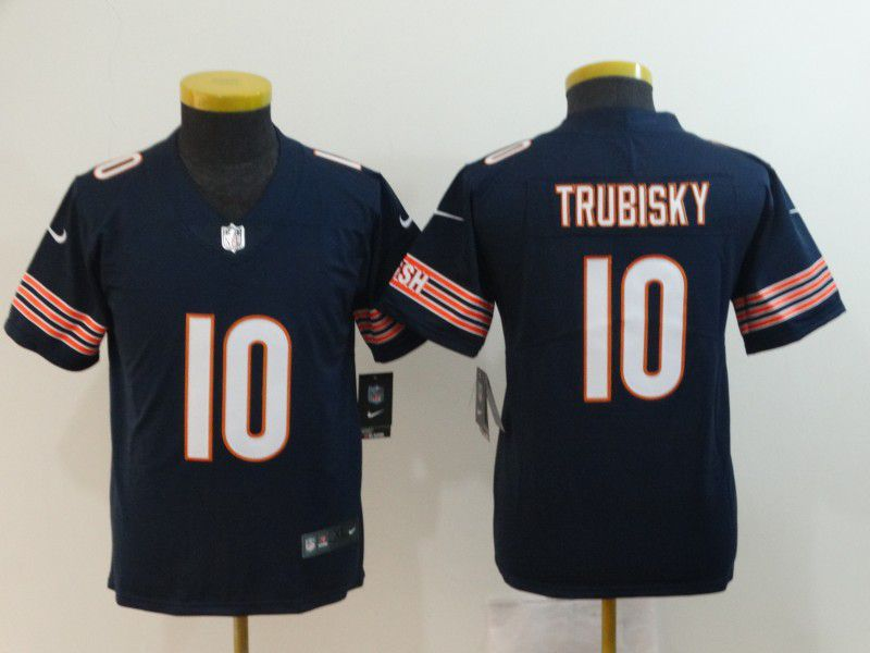 Youth Chicago Bears 10 Trubisky Nike Vapor Untouchable Limited Playe NFL Jerseys