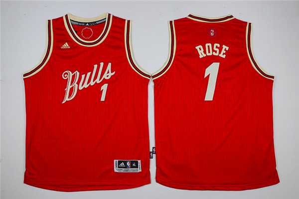 Youth Chicago Bulls 1 Rose red Game Nike NBA Jerseys