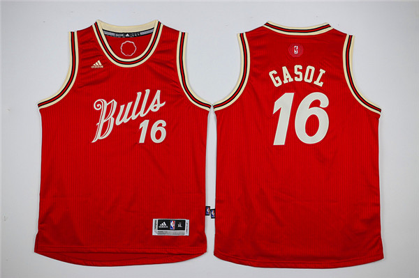 Youth Chicago Bulls 16 Gasol red Game Nike NBA Jerseys