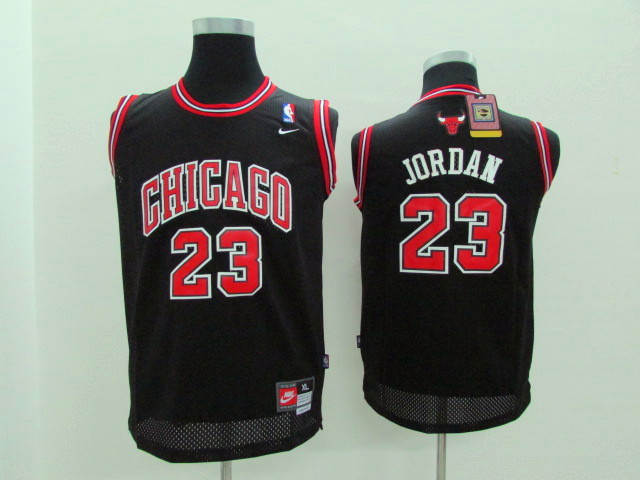 Youth Chicago Bulls 23 Michael Jordan black Game Nike NBA Jerseys