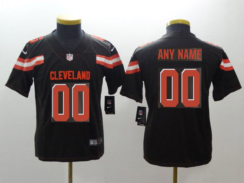 Youth Cleveland Browns Custom Brown Nike Vapor Untouchable Playe NFL Jerseys