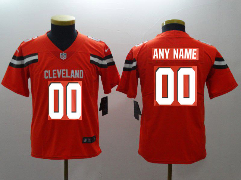 Youth Cleveland Browns Custom Orange Nike Vapor Untouchable Playe NFL Jerseys
