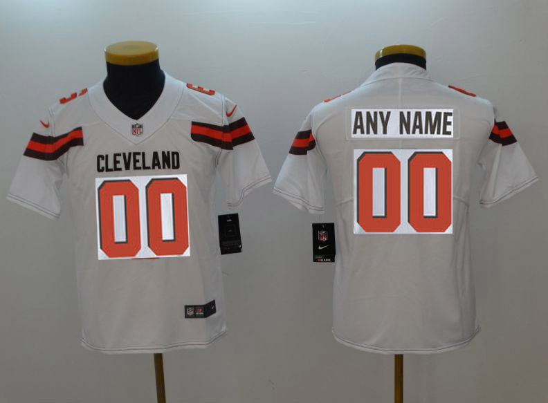 Youth Cleveland Browns Custom White Nike Vapor Untouchable Playe NFL Jerseys